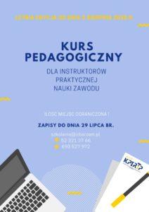 KURS PEDAGOGICZNY -sierpień 2020
