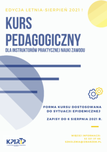 Plakat-Kurs pedagogiczny _sierpień 2021